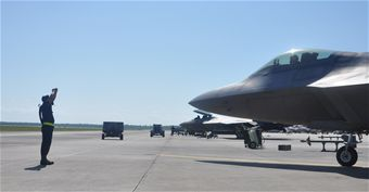 43rd FS, 83rd FWS team up during in-place deployment